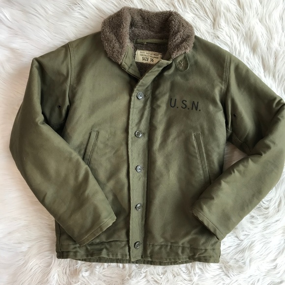 Vintage Jackets Amp Coats Wwii Us Navy Deck Jacket With